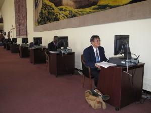 Blogging after UN Session.