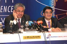 Left: Tan Sri Azman Mokhtar and his most trusted man in BinaFikir Sdn Bhd and Khazanah, En Mohamed Rashdan Yusuf aka Danny