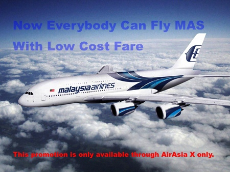 Now Everyone Can Fly MAS With Low Cost Fares