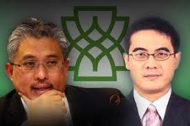 Right: Mohamed Rashdan Yusuf, the then Deputy CEO of MAS, a nominee of Khazanah and co-founder of BinaFikir Sdn Bhd