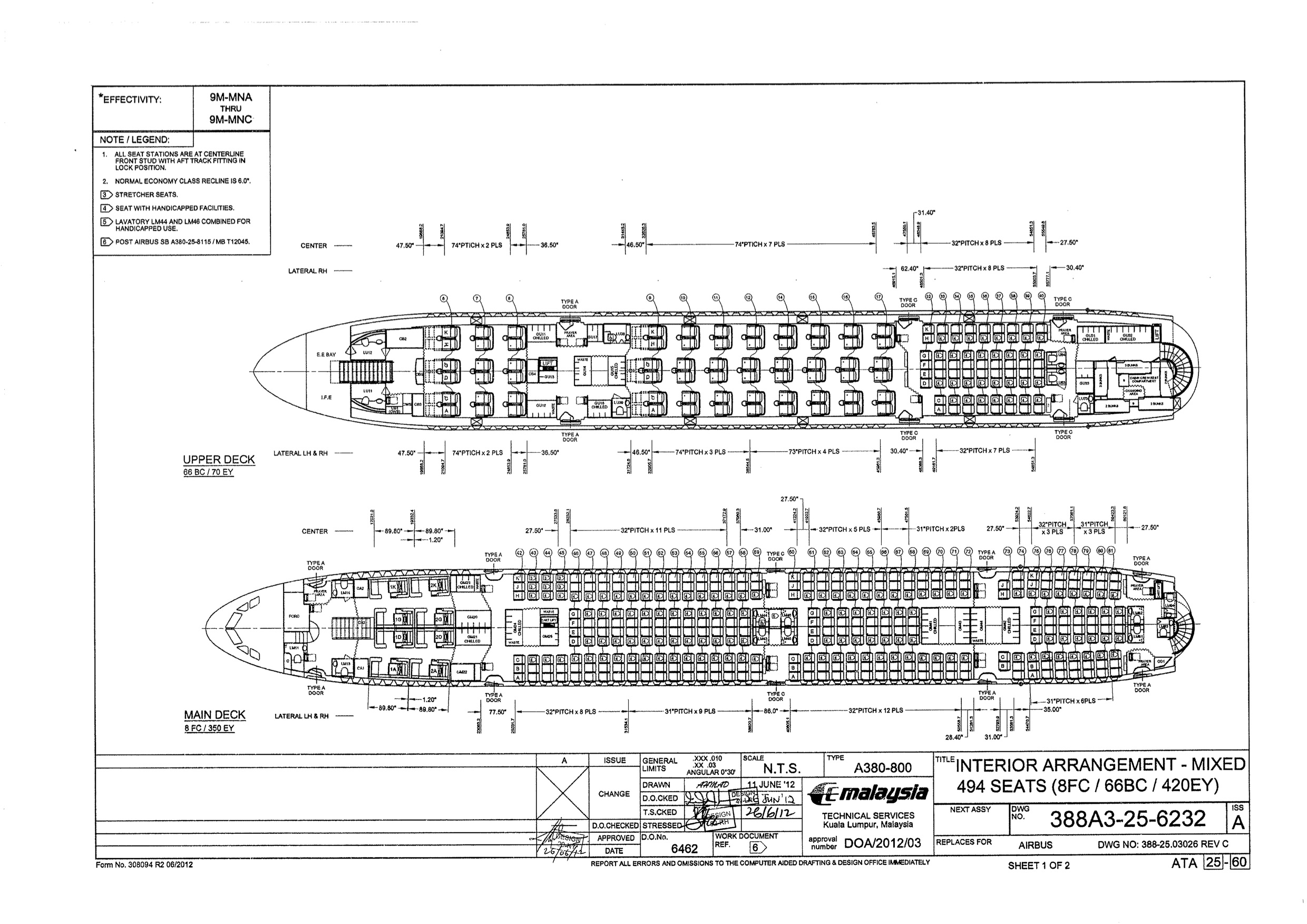 A380 Layout Plan