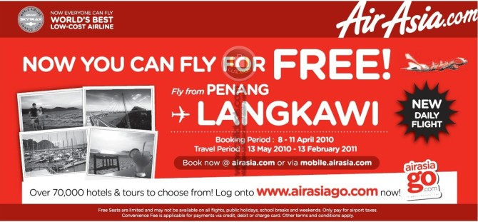 Free Flights to Langkawi