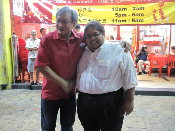 Yours truly together with Yg Bhg Datuk Mazri