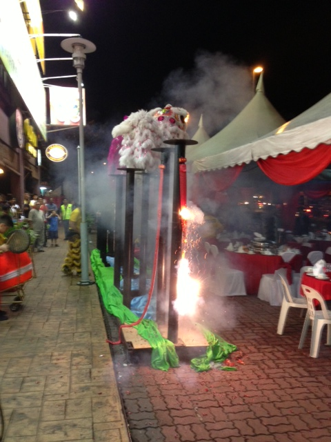 The Wangsa Maju Chinese New Year Open House was ushered in with lion dance and firecrackers.