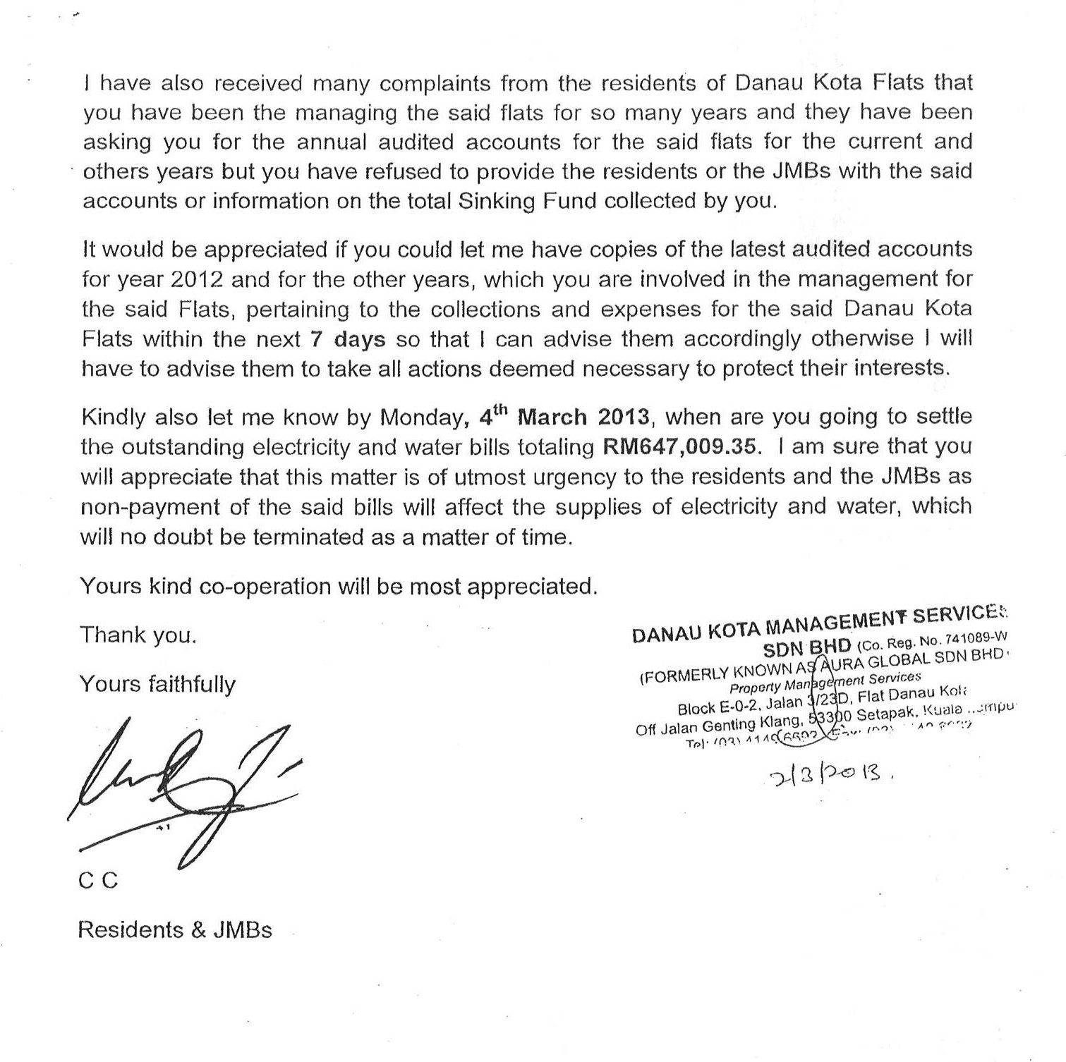 Yeshiva B nei Torah      Building Campaign When Yours faithfully and when Yours sincerely in a business letter