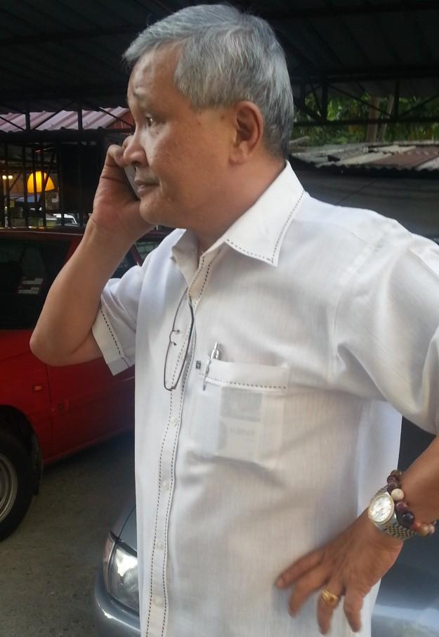 Was Mr David Lim Kok Chu calling his political master?
