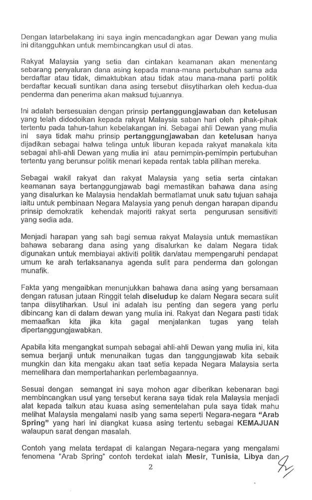 Pg 2 usul Dana Asing