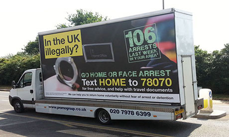 """A Go Home Van"" moving around UK to create awareness"