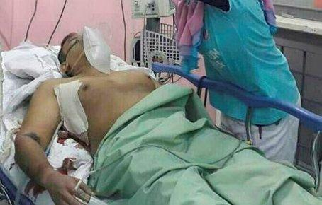 Mr Saveejan after being shot