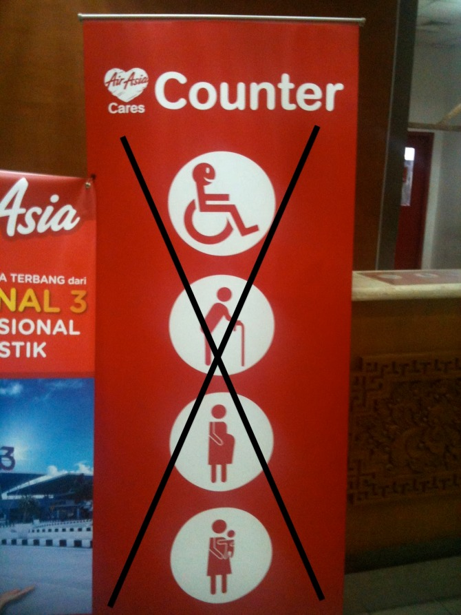 The bunting at AirAsia counters should look like this,