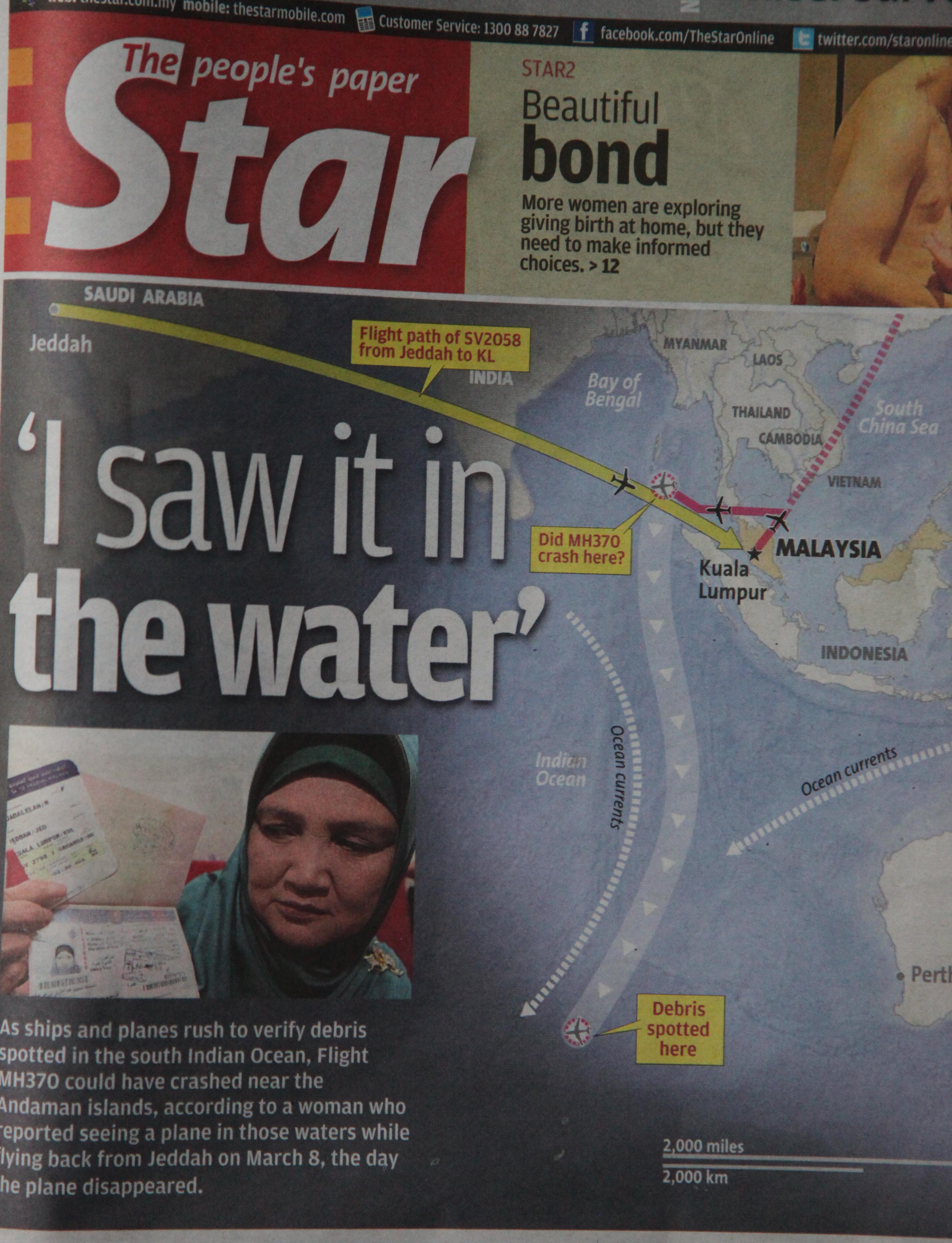 berita terkini mh370 pada 20 mac 2014
