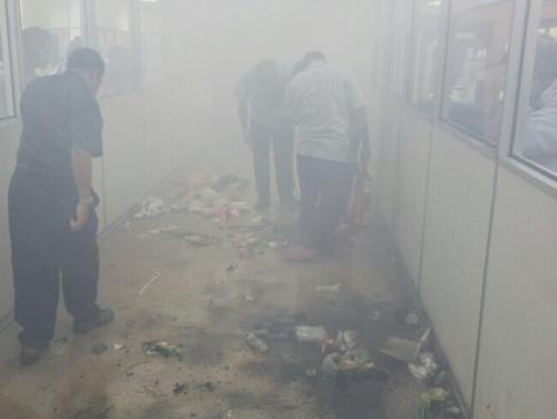 Fire in avionic shop