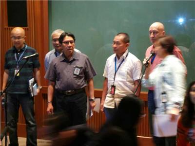 Azhari Dahlan extreme left during the first press conference on missing MH 370
