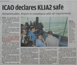 When AirAsia & AirAsia X alleged that KLIA2 is unsafe, BK Sidhu and the Star gave massive publicities.