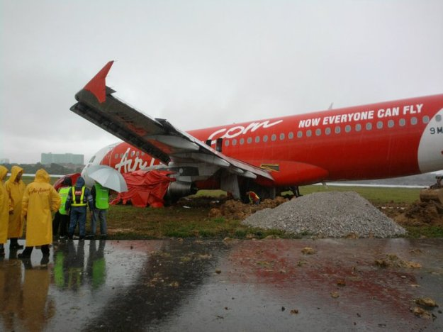 AirAsia skidded off the runway
