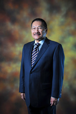 Tan Sri Ir Jamilus Hussein, the chairman of KLIA Premier Sdn Bhd and CEO Technical Consultant of AirAsia
