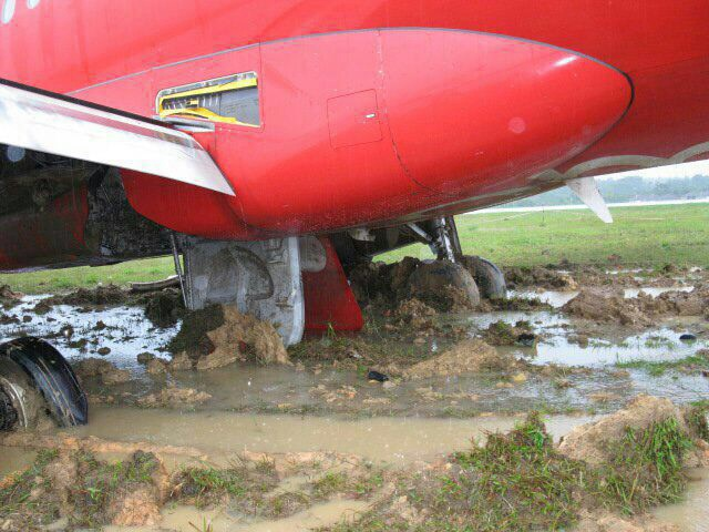 AirAsia skidded off.