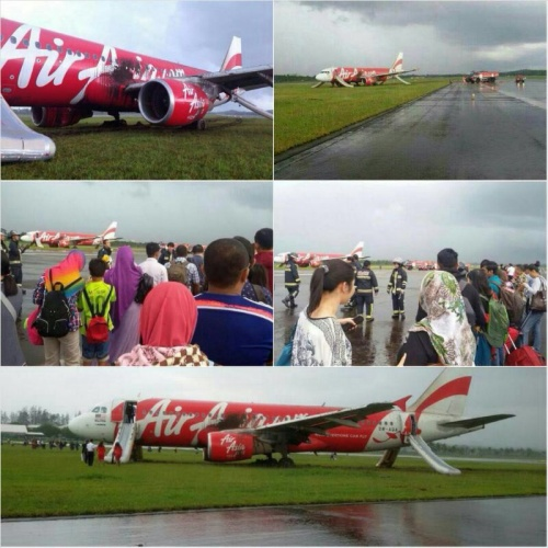 AirAsia skidded at the International Airport Brunei today at about 4 pm