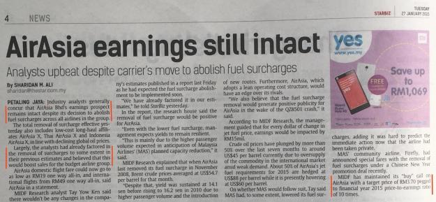 AirAsia earning still intact