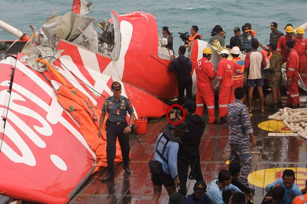 The wreckage of AirAsia flight 8501. 162 innocent passengers have been killed.