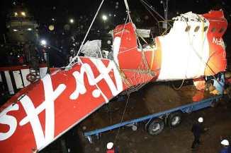 The wreckage of the unauthorised AirAsia's flight QZ8501.
