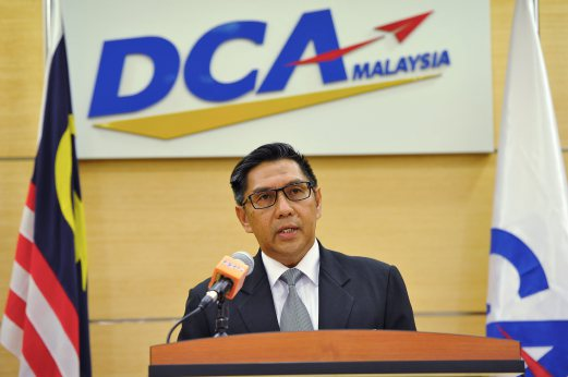 Datuk Azharuddin Abdul Rahman, the Director-General of the Malaysian Department of civil Aviation (DCA)