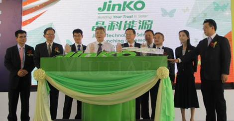 JinkoSolar plant was opened by YAB Lim Guan Eng and Minister YB Datuk Mah Siew Keong