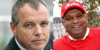 Left: Mr Christoph Mueller, CEO of MAS Right: Tan Sri Tony Fernandes, CEO of AirAsia Group.  Both are great CEO of all times. Great men think alike!